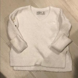 Abercrombie 5/6 White Sweater